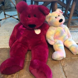 Extra large and RARE vintage TY bears 1999 & 2001